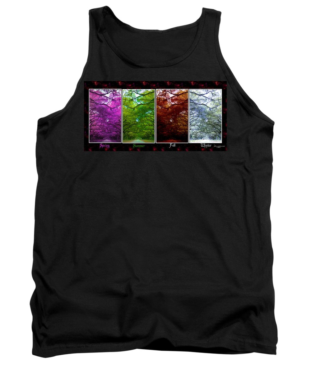 Wormsloe Tank Top featuring the photograph The Four Seasons- Featured In Comfortable Art And Newbies Groups by Ericamaxine Price