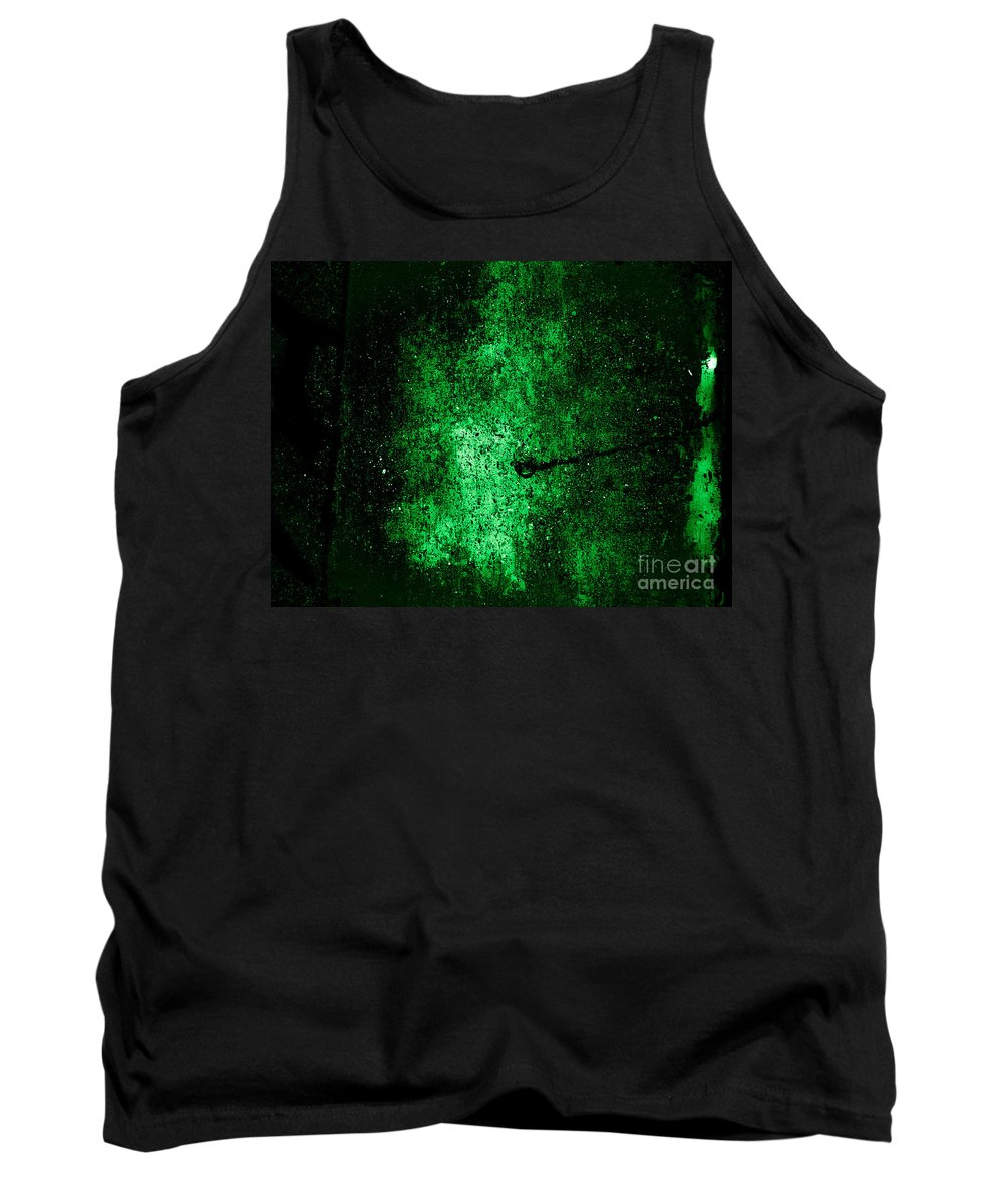 Abstract Tank Top featuring the photograph The Galaxy Green Version by Fei A