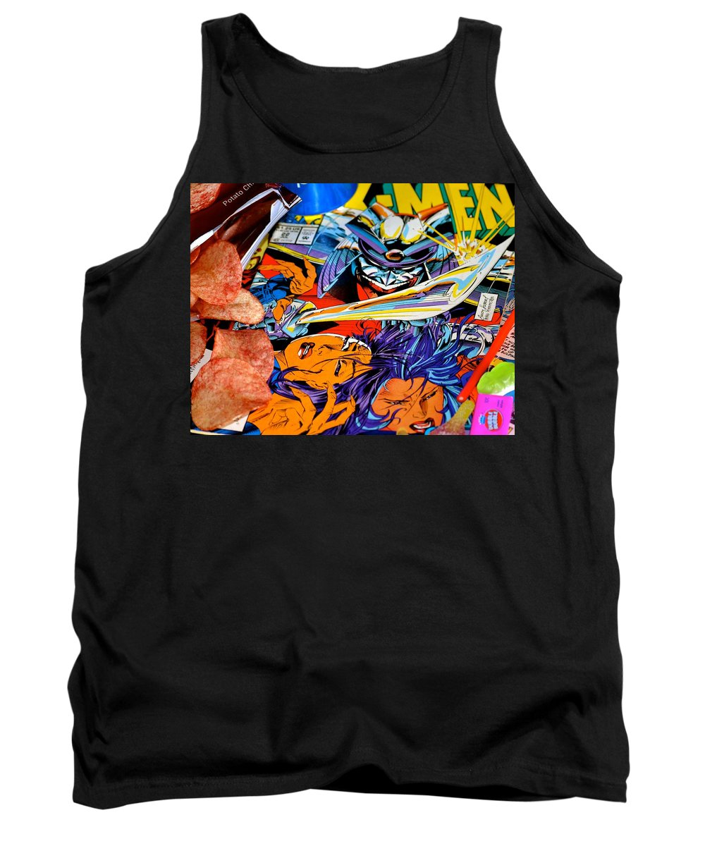 Comics Tank Top featuring the photograph The Good Fight by Stephanie Bland