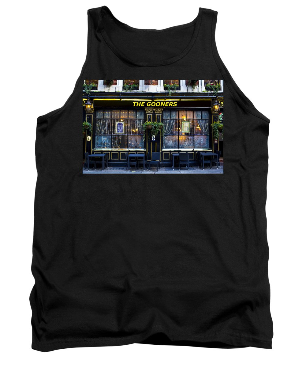 Arsenal Tank Top featuring the photograph The Gooners Pub by David Pyatt