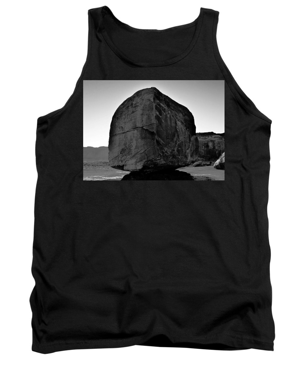 Fine Art Photography Tank Top featuring the photograph The Great Boulder by David Lee Thompson