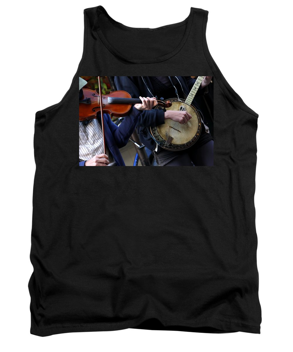 Kg Tank Top featuring the photograph The Hands Of Jazz by KG Thienemann