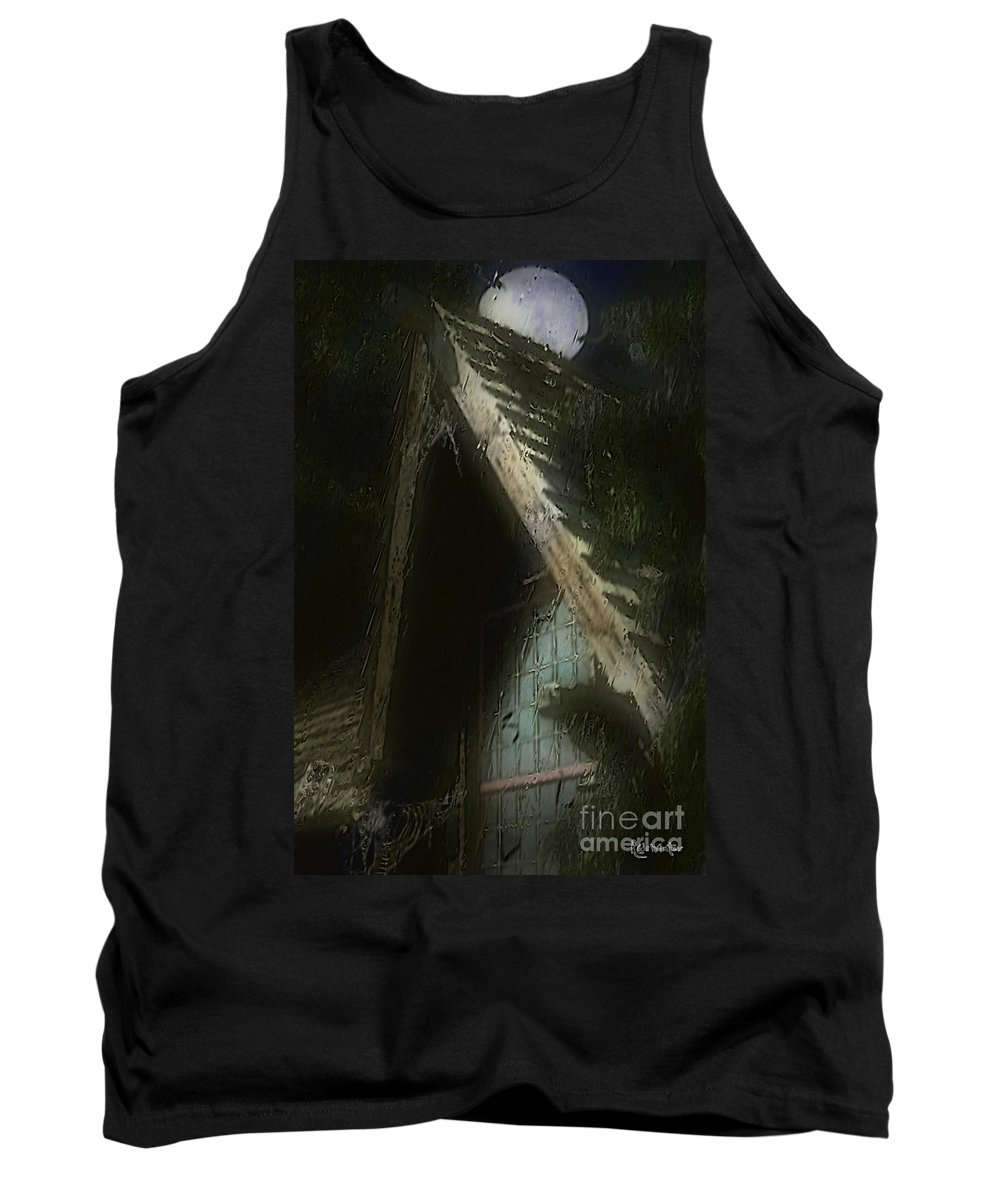House Tank Top featuring the painting The Haunted Gable by RC DeWinter