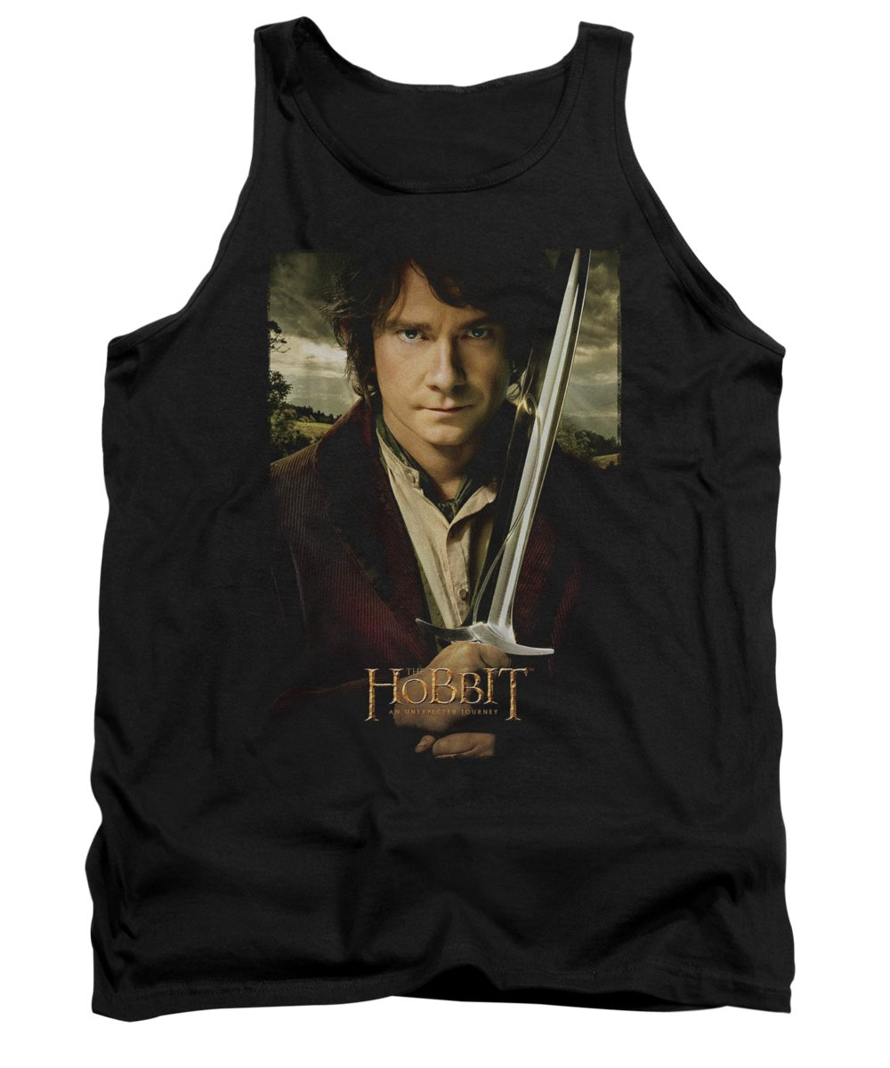 The Hobbit Tank Top featuring the digital art The Hobbit - Baggins Poster by Brand A