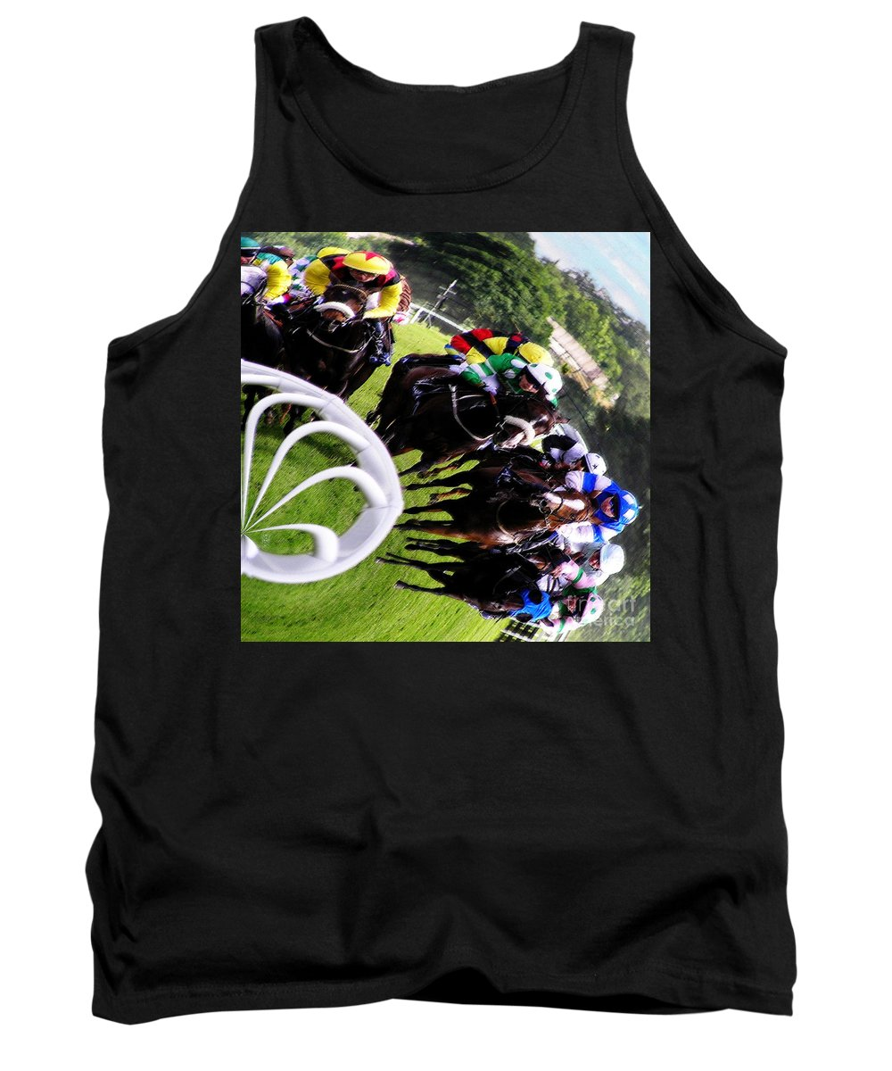 Race Tank Top featuring the photograph The Horse Race by Neil Finnemore