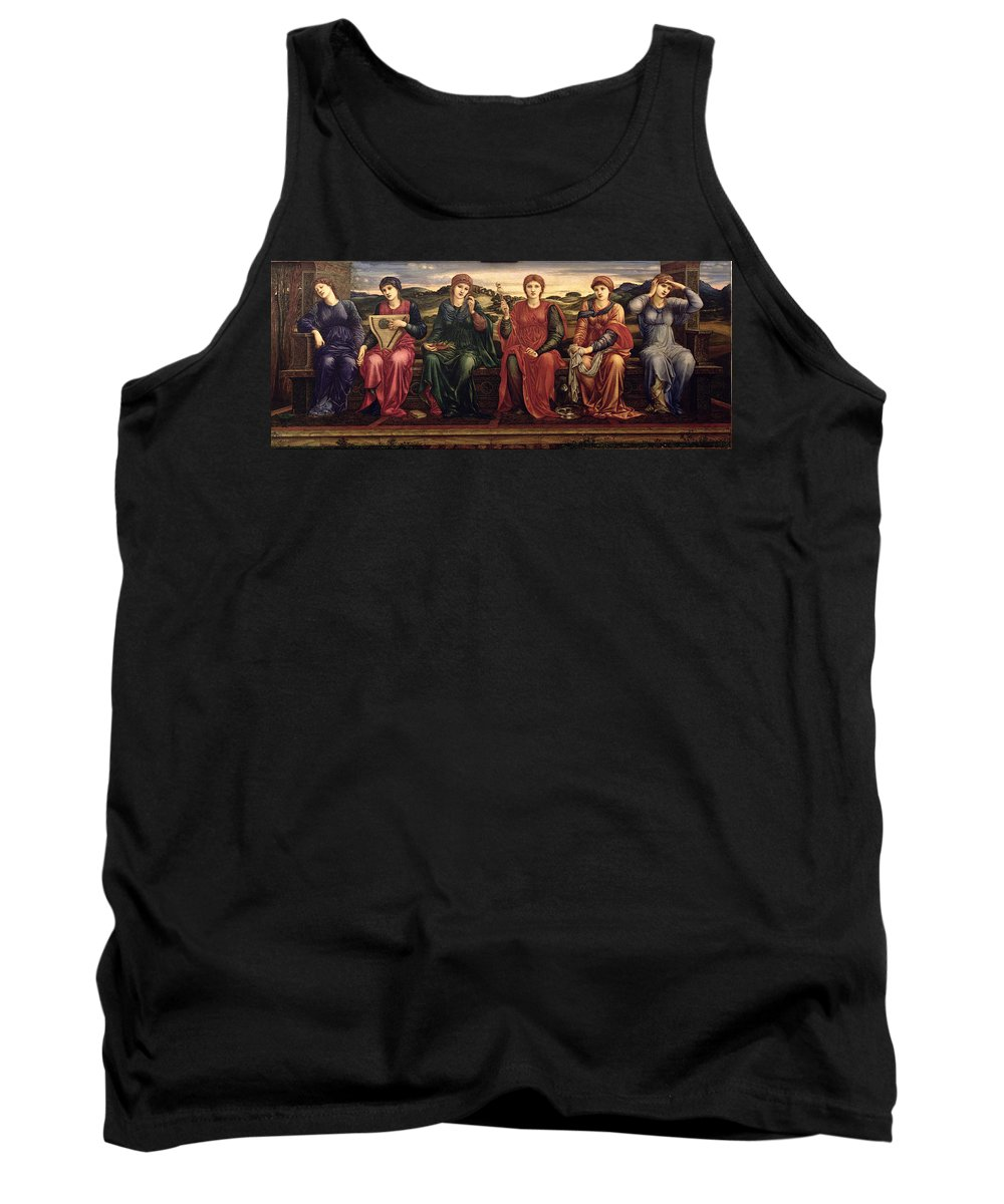 Harp Tank Top featuring the painting The Hours, 1870-82 by Sir Edward Coley Burne-Jones