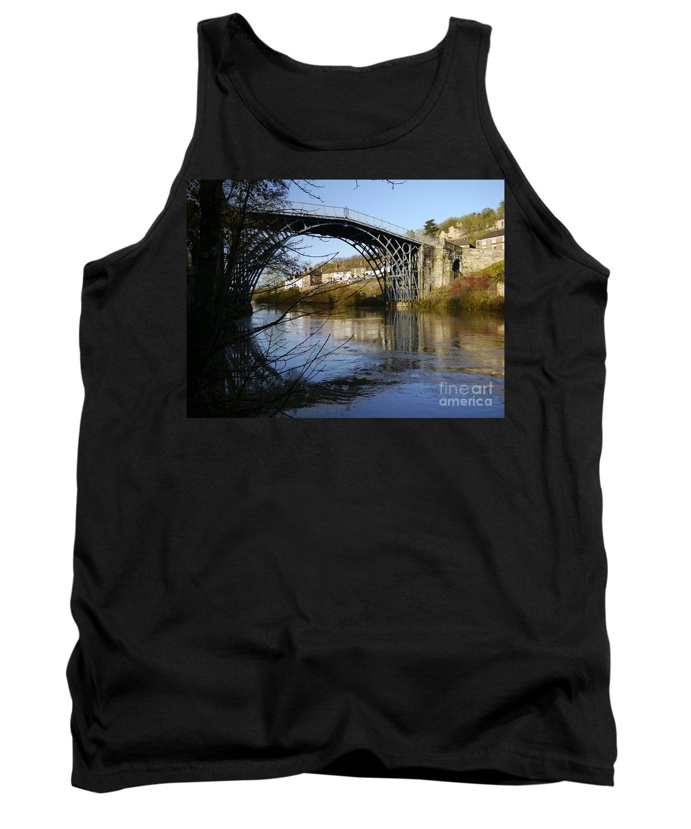 Ironbridge Tank Top featuring the photograph The Iron Bridge 1 by John Chatterley