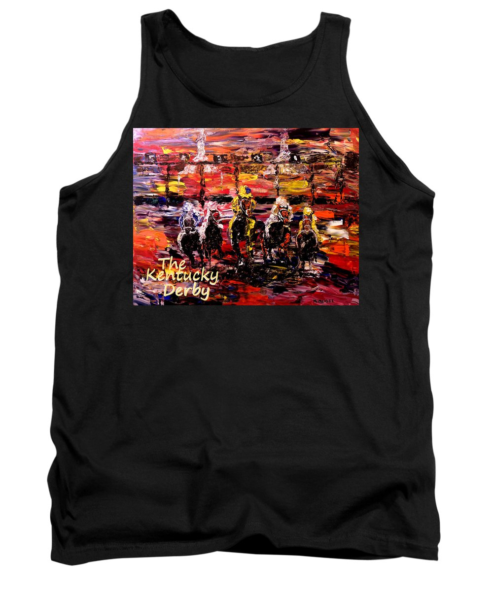 Kentucky Derby Tank Top featuring the photograph The Kentucky Derby - And They're Off Without Year by Mark Moore
