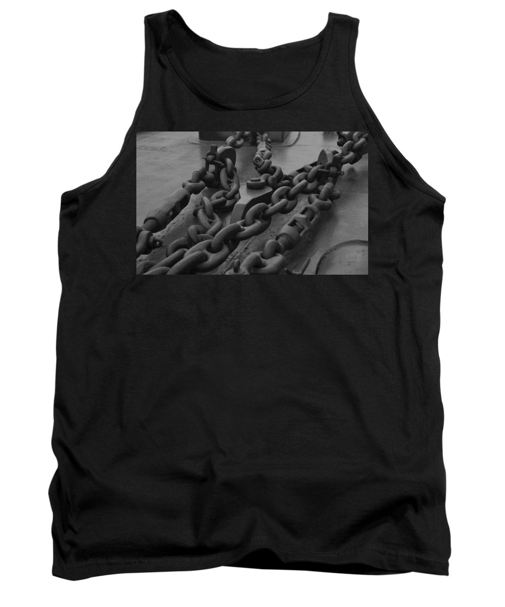 Chain Tank Top featuring the photograph The Kidds Chains by Richard Booth
