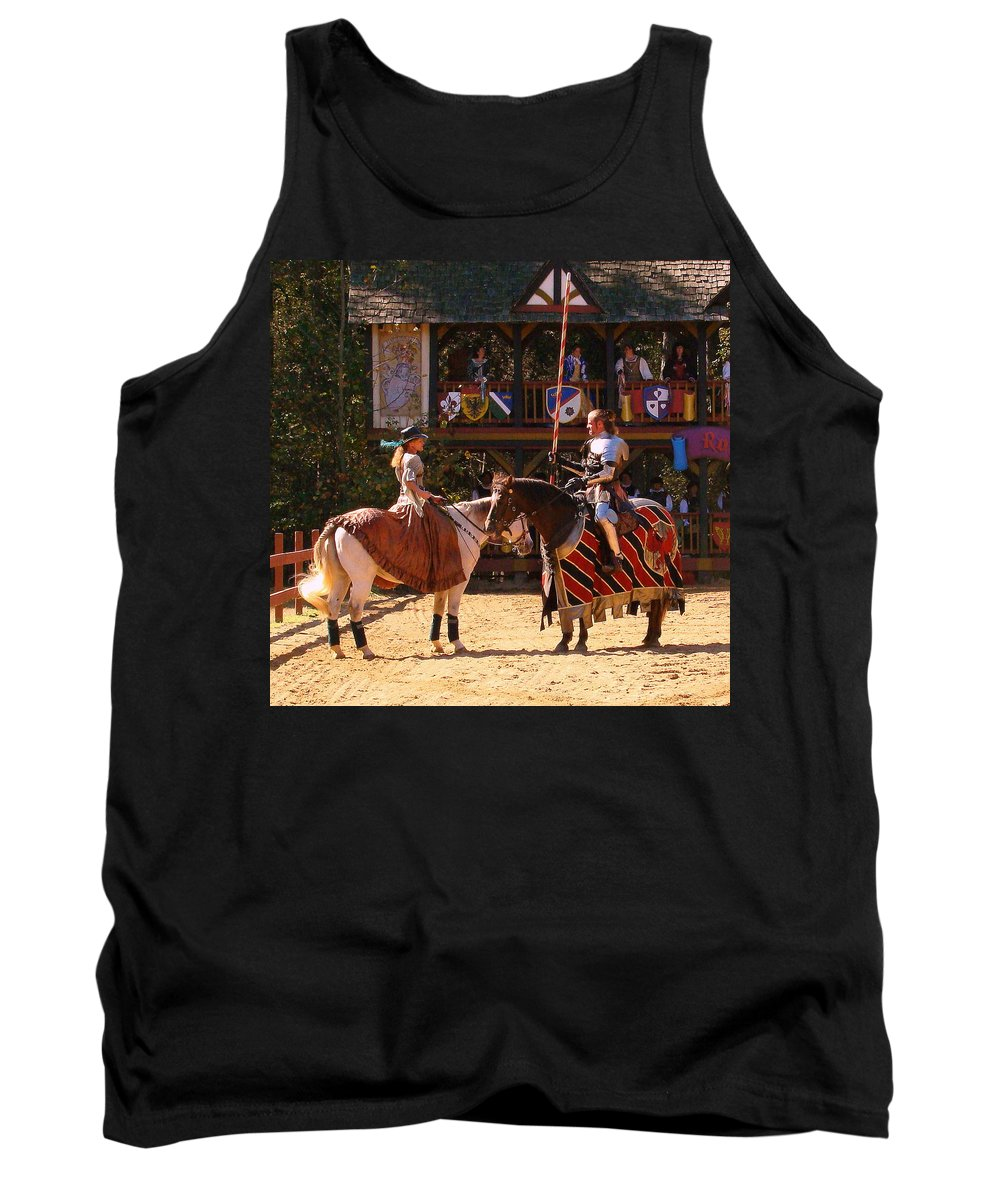 Fine Art Tank Top featuring the photograph The Lady And The Knight by Rodney Lee Williams