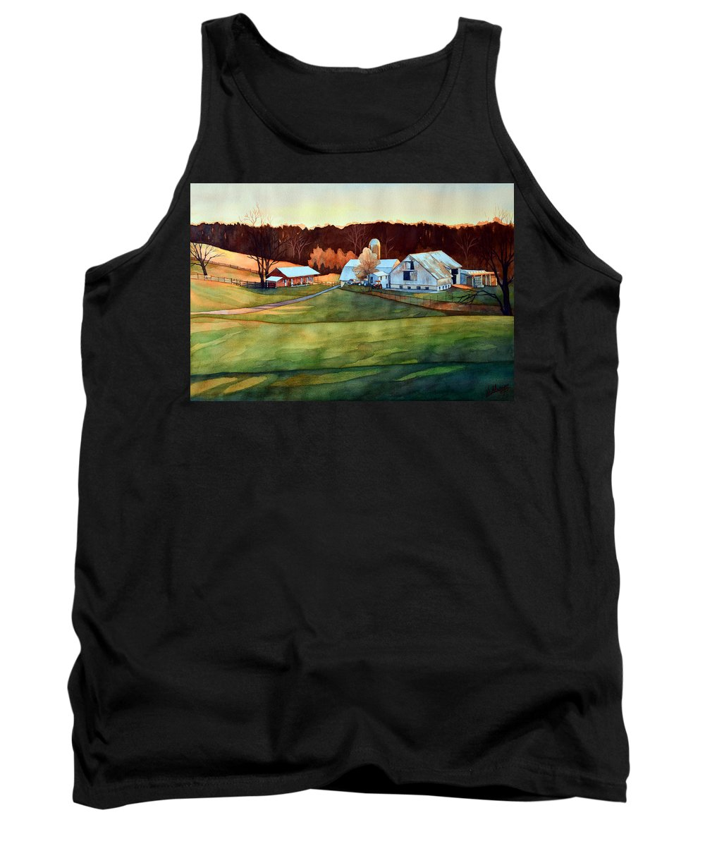 Watercolor Tank Top featuring the painting The Last Beaujolais by Mick Williams