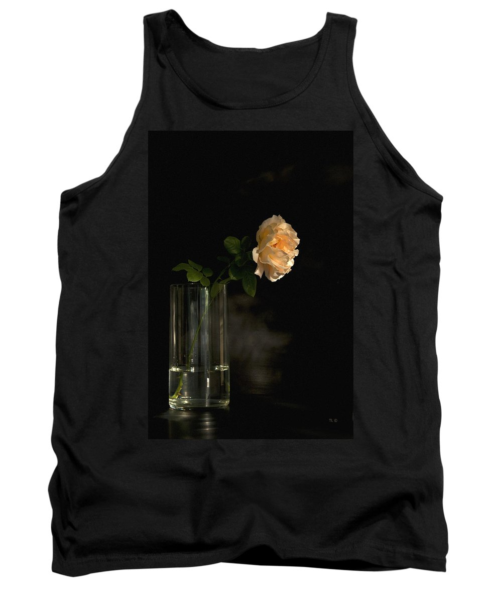 English Roses Tank Top featuring the photograph The Last Rose Of Summer by Theresa Tahara