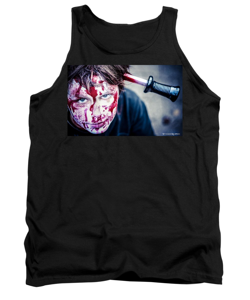 Portraits Tank Top featuring the photograph The Last Shock by Stwayne Keubrick