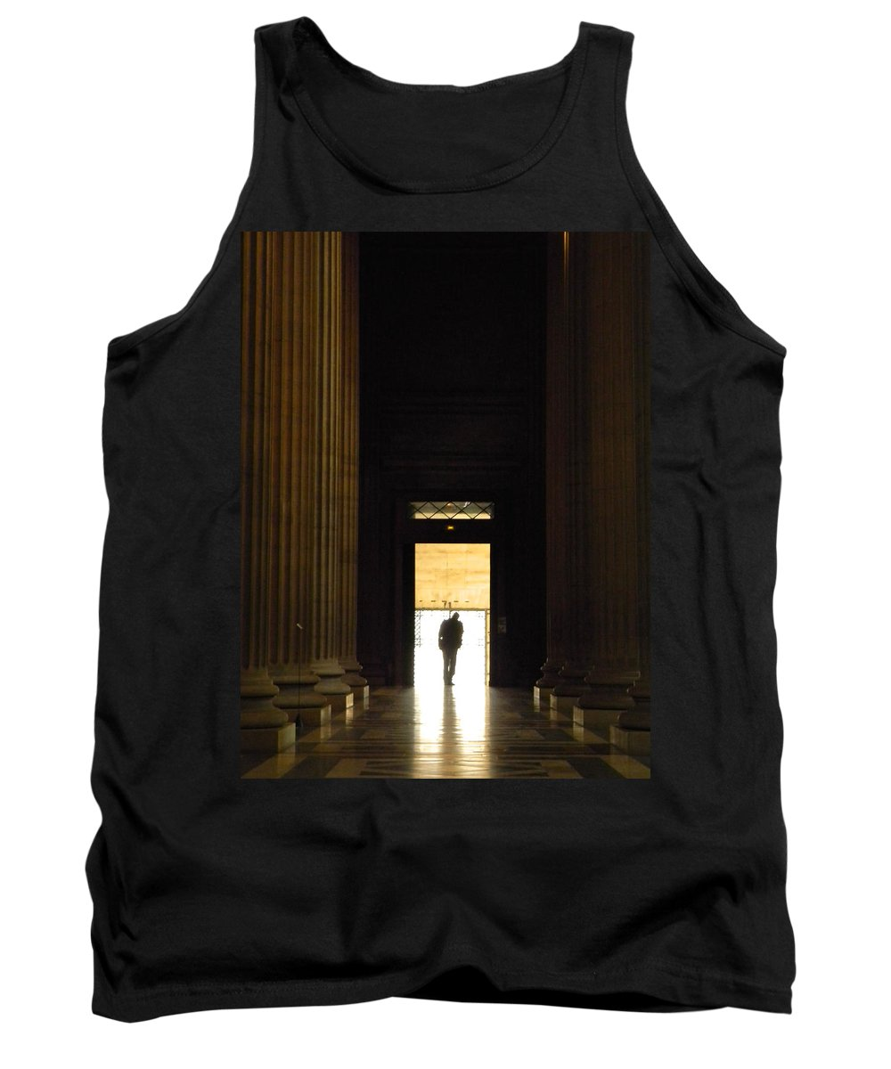 Paris Tank Top featuring the photograph The Lonely Parisian by Marwan George Khoury