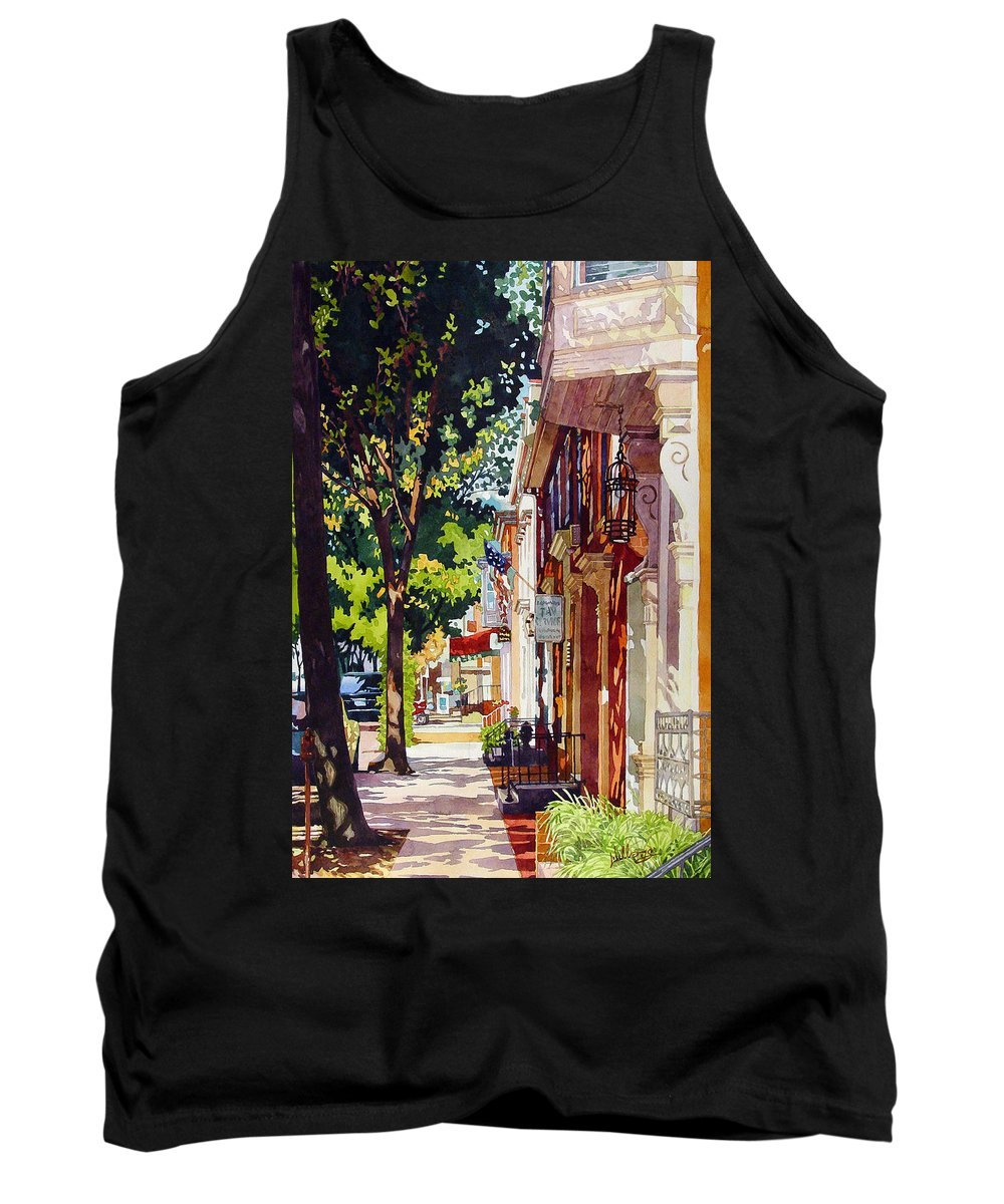 Landscape Tank Top featuring the painting The Long Walk To Market by Mick Williams