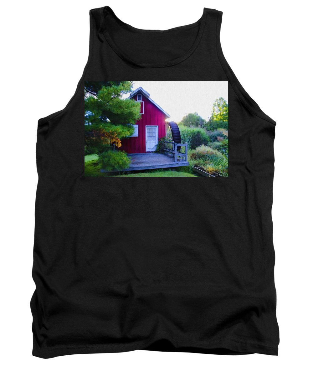 Kimberton Tank Top featuring the photograph The Mill At Kimberton by Bill Cannon