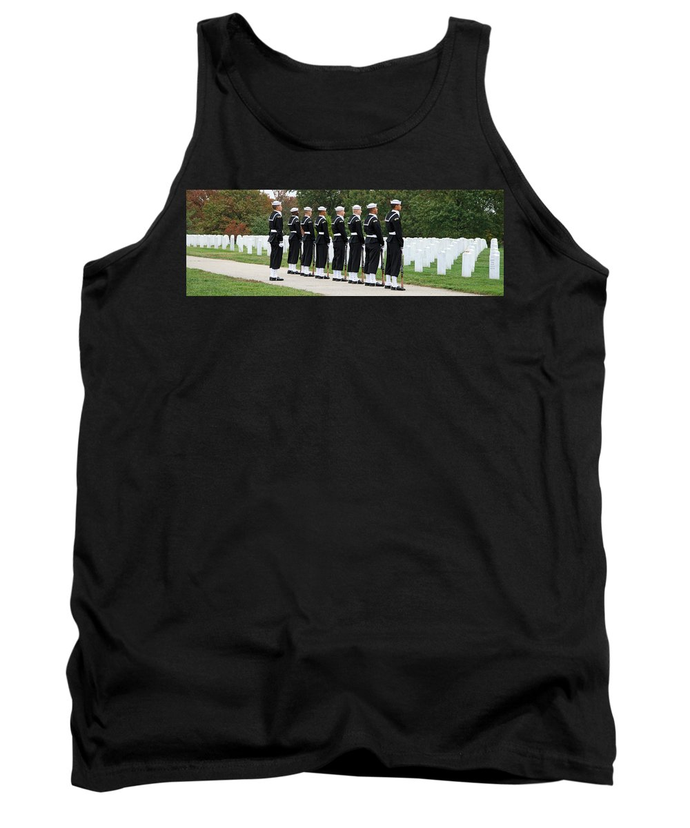 Tank Top featuring the photograph The Navy Ceremonial Guard by Cora Wandel