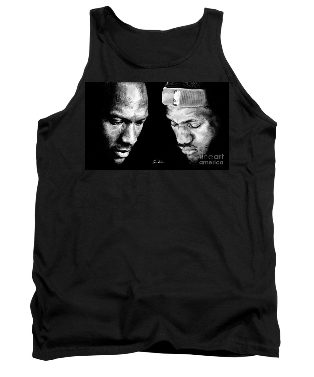 Lebron James Tank Top featuring the drawing The Next One by Tamir Barkan
