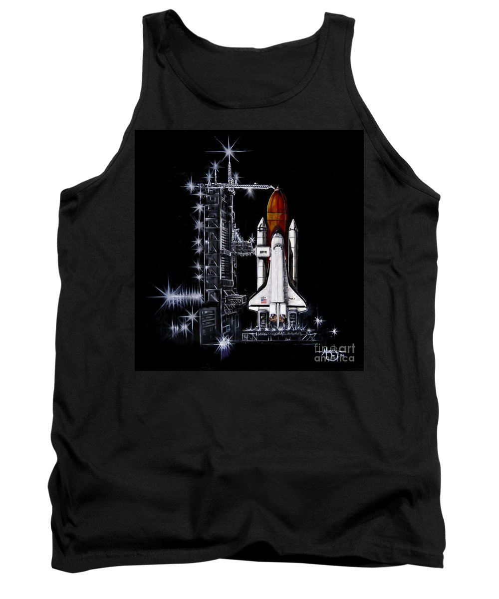 Shuttle Tank Top featuring the painting The Night Before by Murphy Elliott
