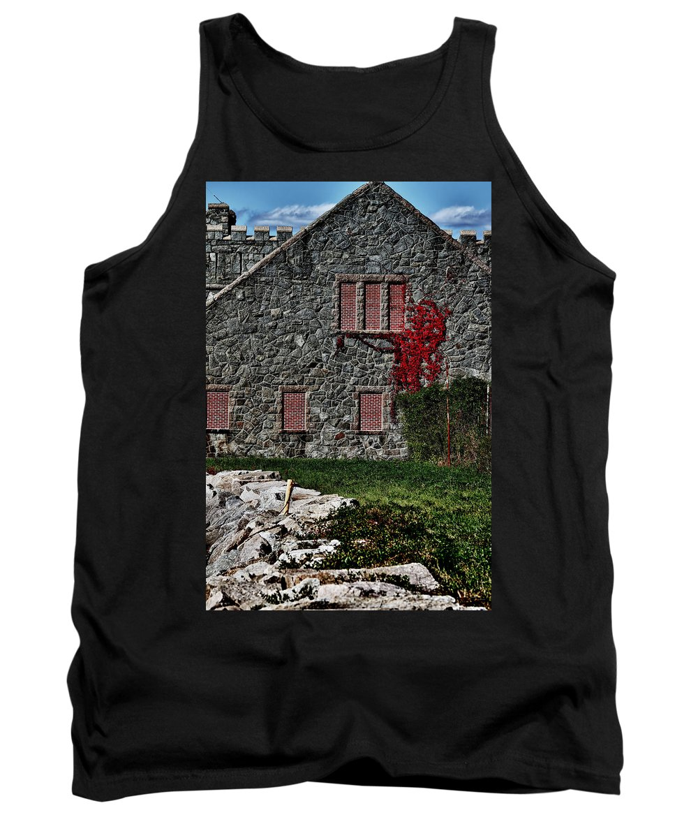 New England Tank Top featuring the photograph The Old Fort Bristol Rhode Island by Tom Prendergast