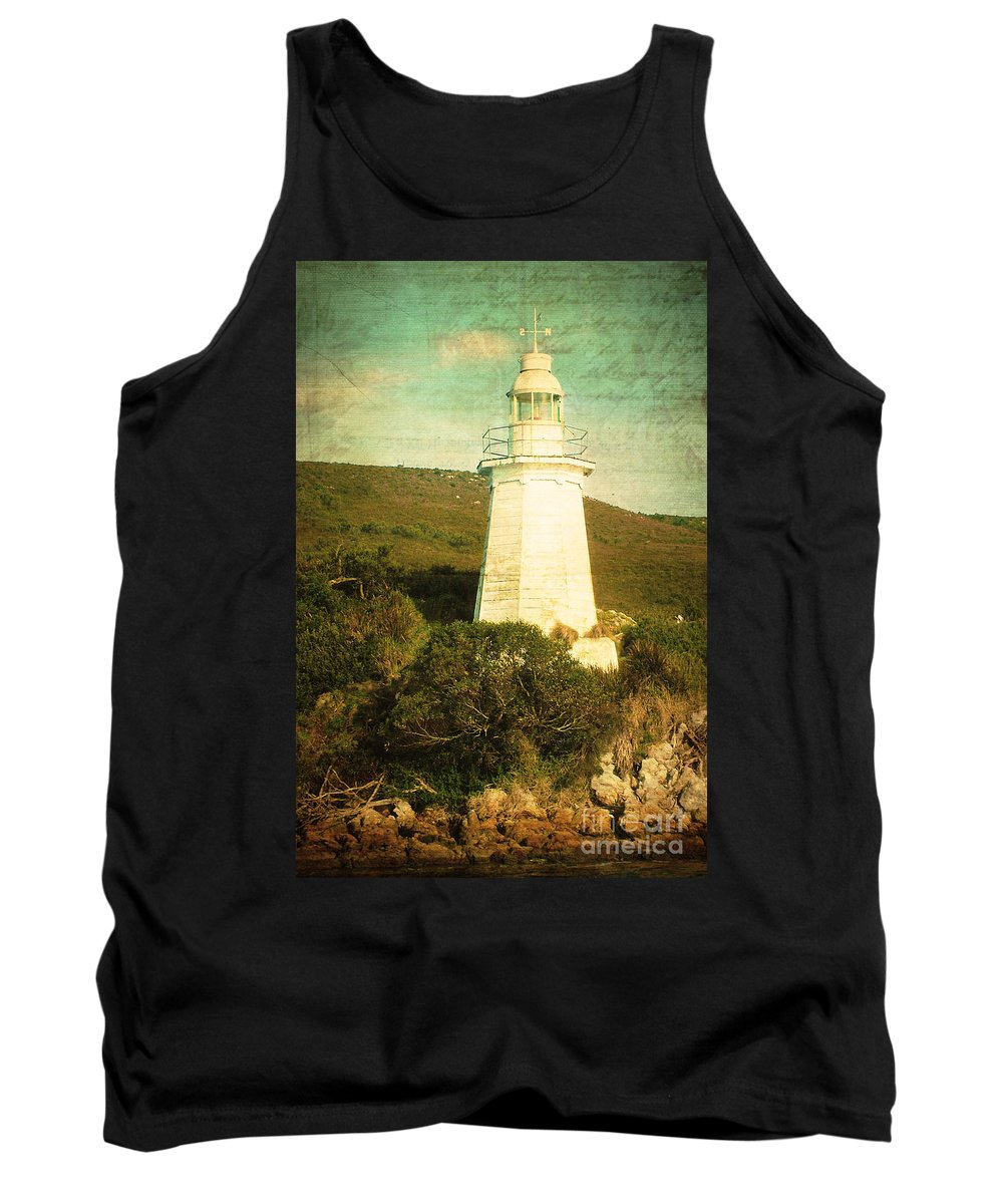 Vintage Tank Top featuring the photograph The Old Lighthouse by Phill Petrovic