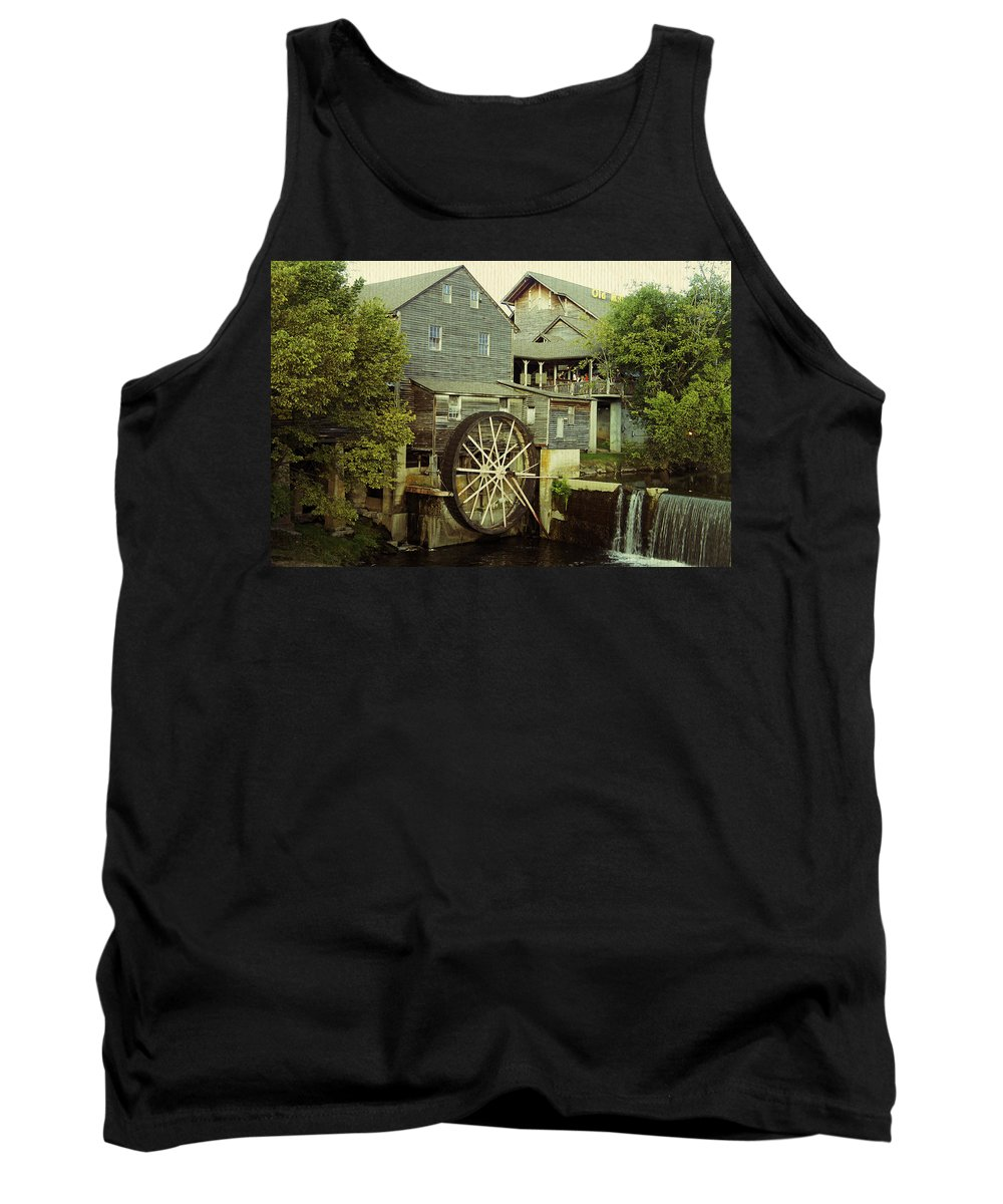 Old Mill Tank Top featuring the photograph The Old Mill by Laurie Perry