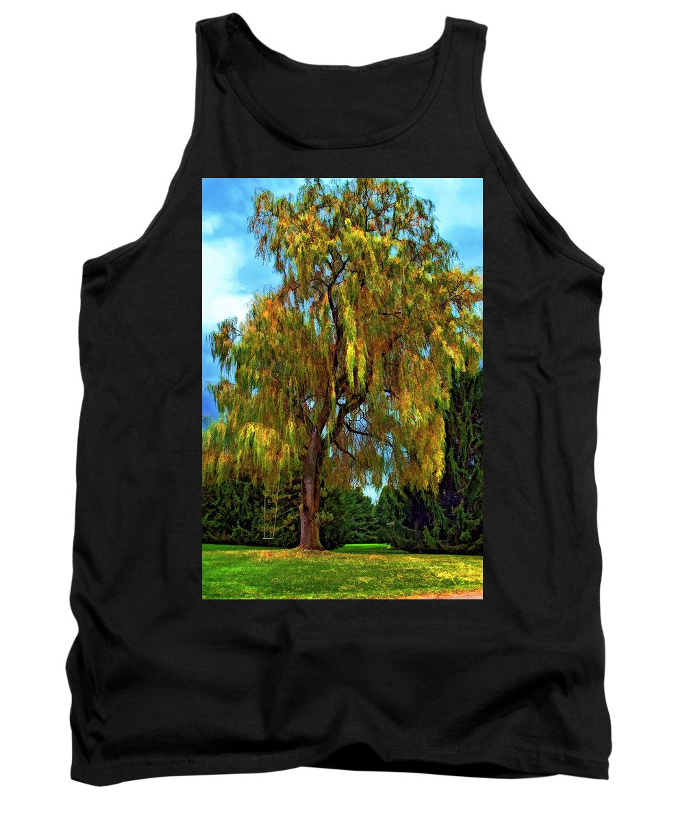Willow Tank Top featuring the photograph The Perfect Swing II by Steve Harrington