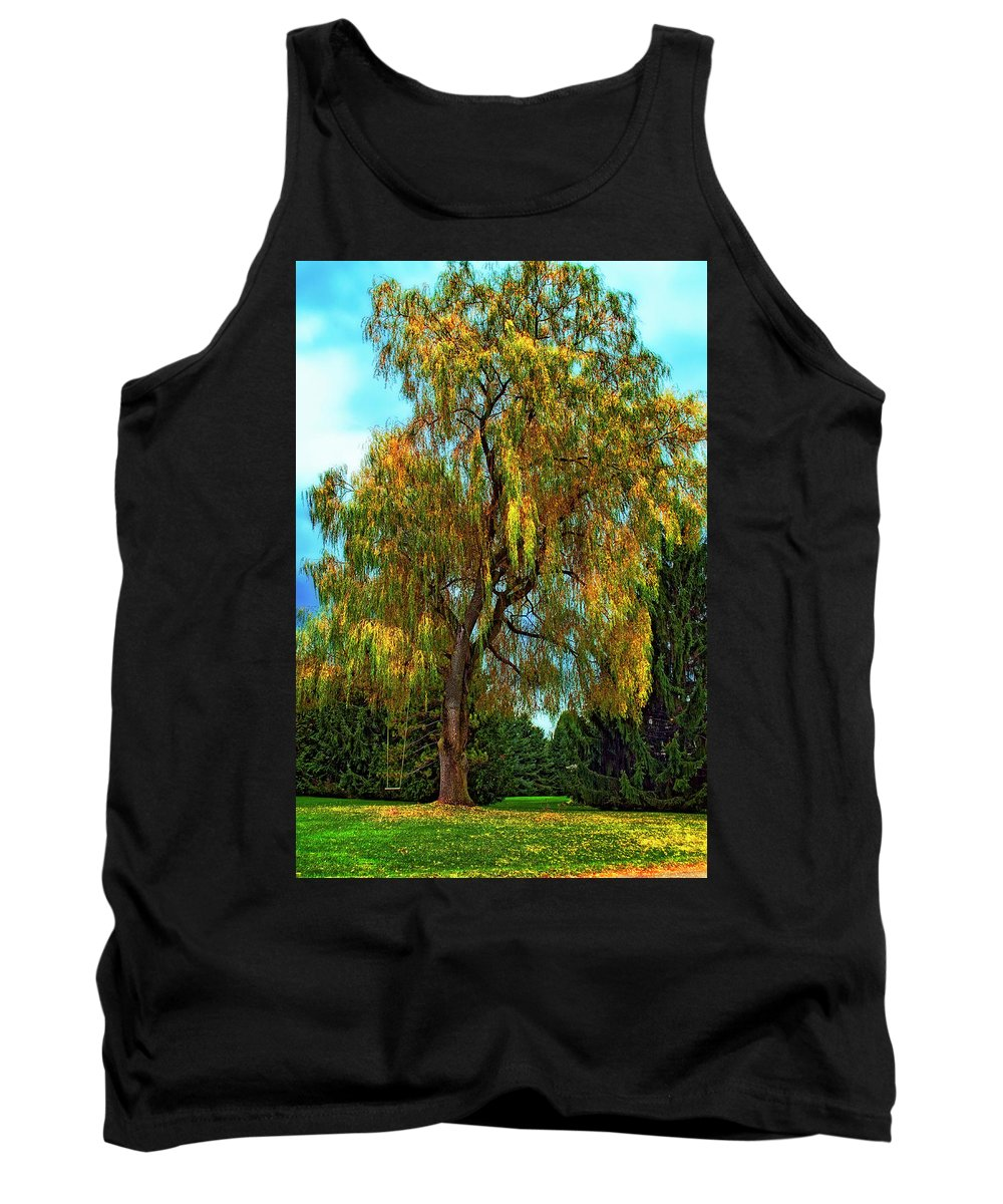 Willow Tank Top featuring the photograph The Perfect Swing by Steve Harrington