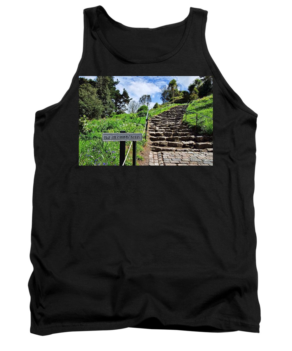 St Michaels Mount Tank Top featuring the photograph The Pilgrims' Steps by Susie Peek