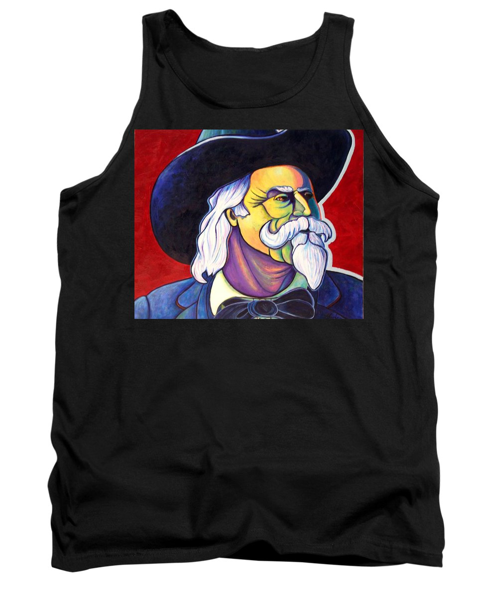 Western Hero Tank Top featuring the painting The Plainsmen - Buffalo Bill Cody by Joe Triano