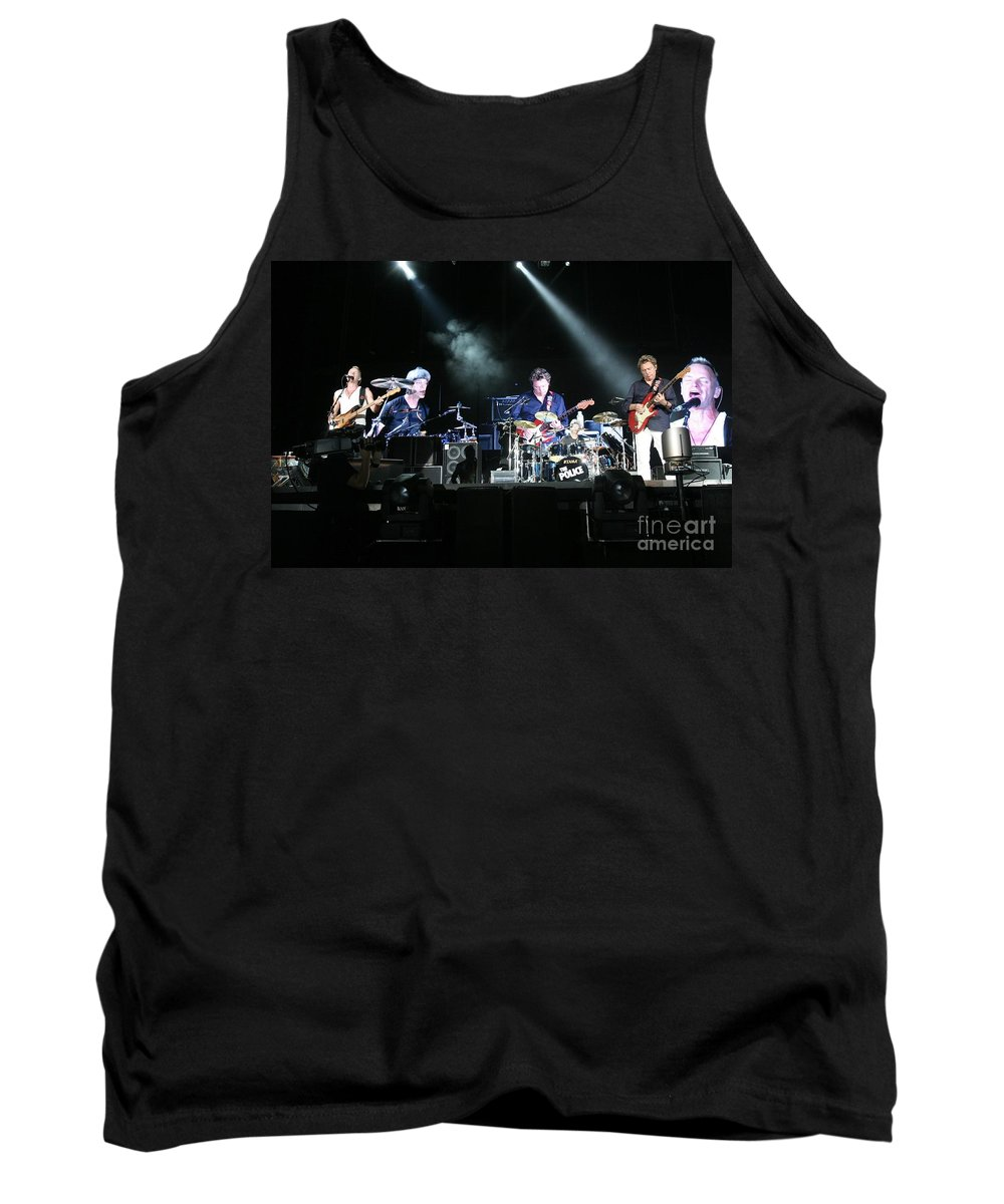 Performance Tank Top featuring the photograph The Police by Concert Photos