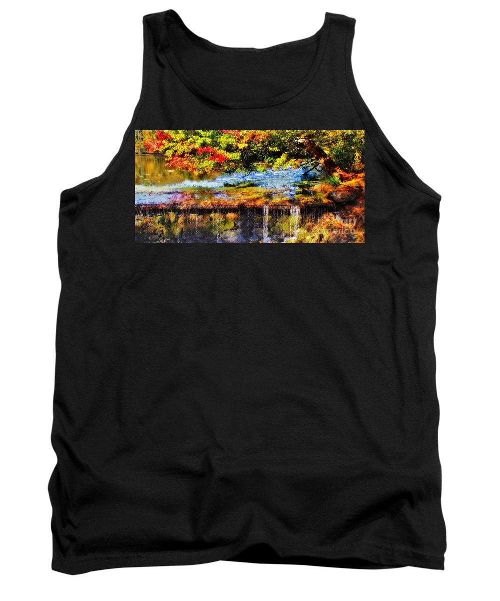 Tank Top featuring the photograph The Private Little Pond by Chet B Simpson