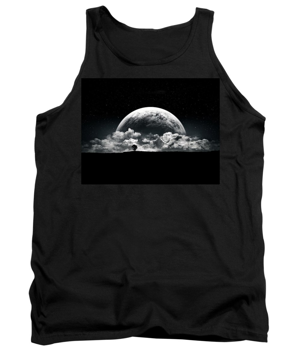 Planet Tank Top featuring the digital art The Rise Of A Planet II by Tobias Roetsch
