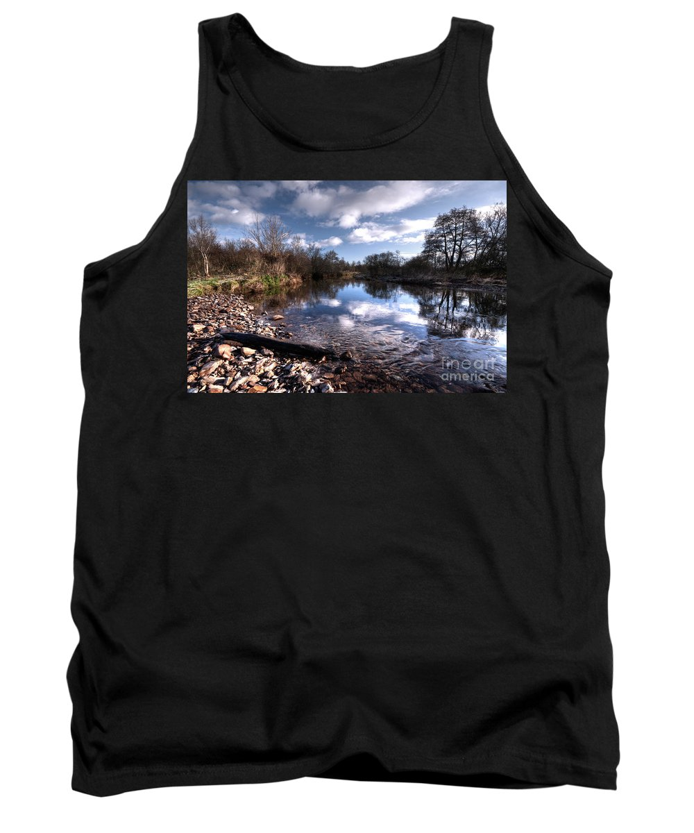 River Tank Top featuring the photograph The River Culm At Five Fords by Rob Hawkins