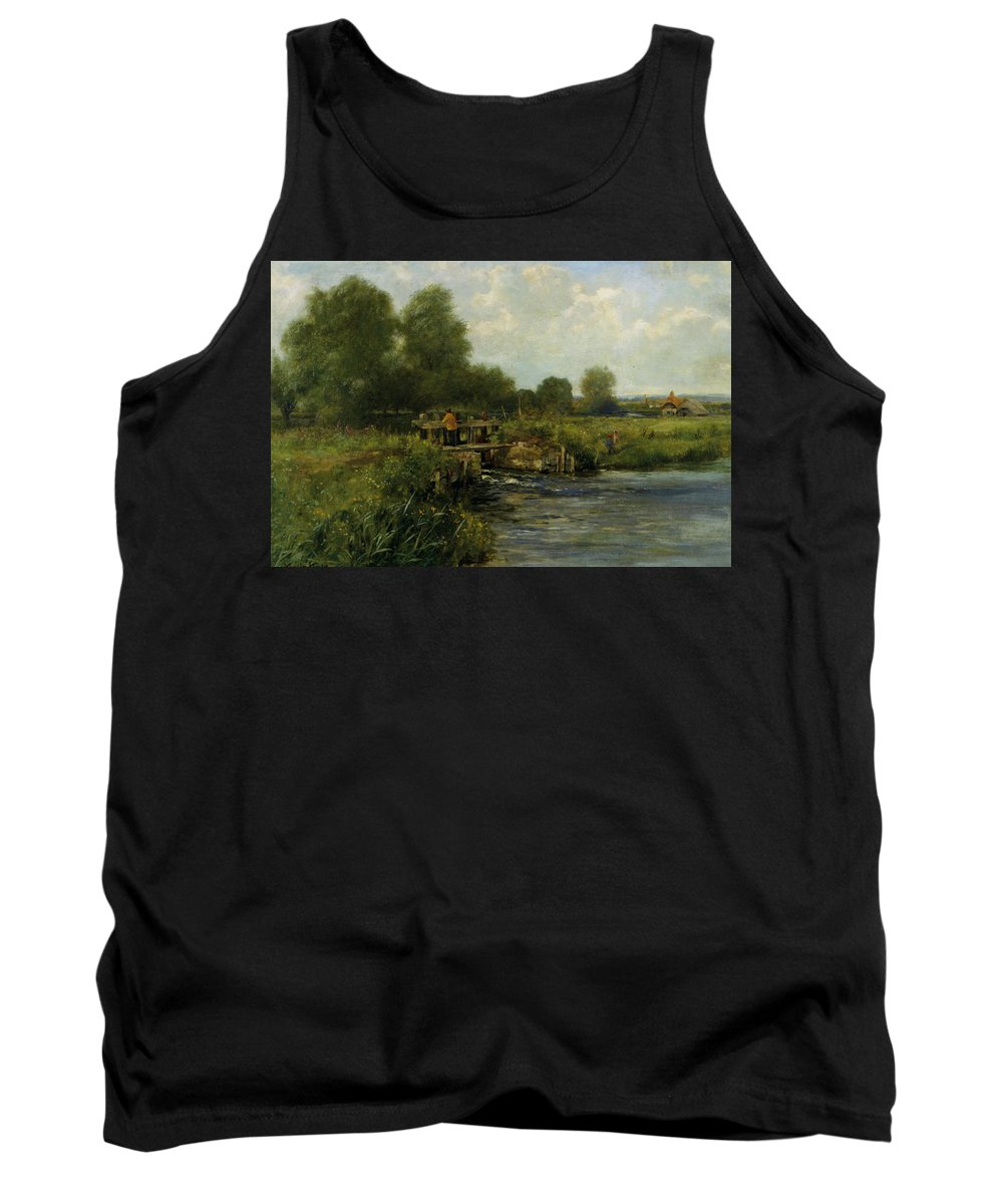 Henry King Tank Top featuring the digital art The River Thames by Henry King
