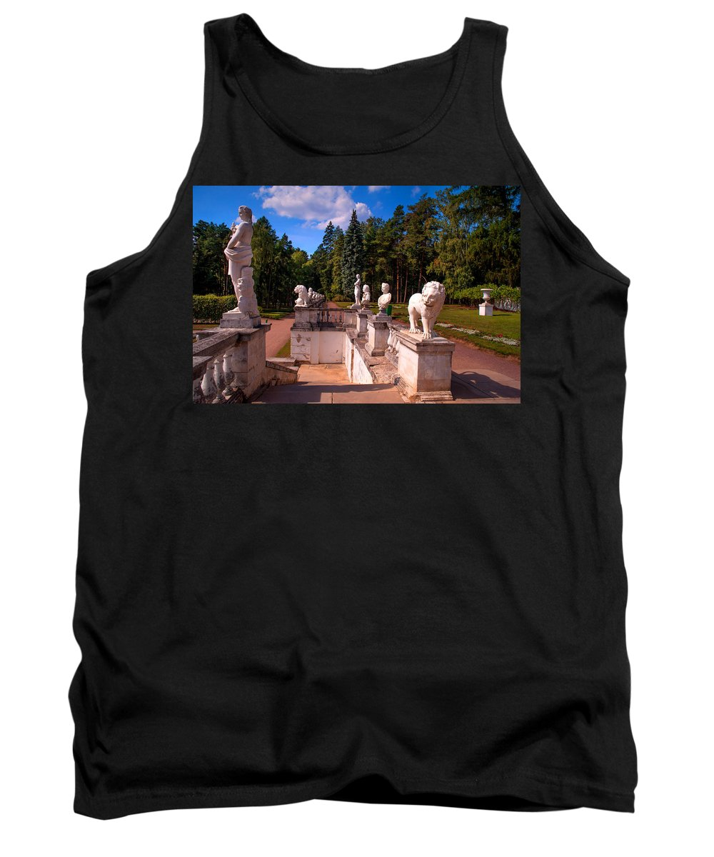 Archangelskoe Tank Top featuring the photograph The Satutues Of Archangelskoe Palace. Russia by Jenny Rainbow