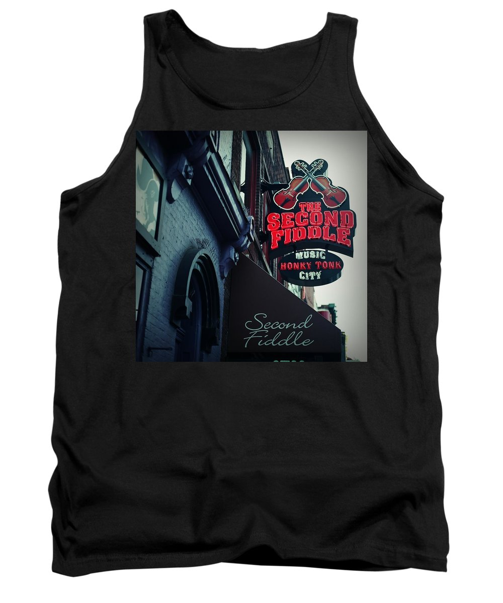 Nashville Tank Top featuring the digital art The Second Fiddle by Linda Unger