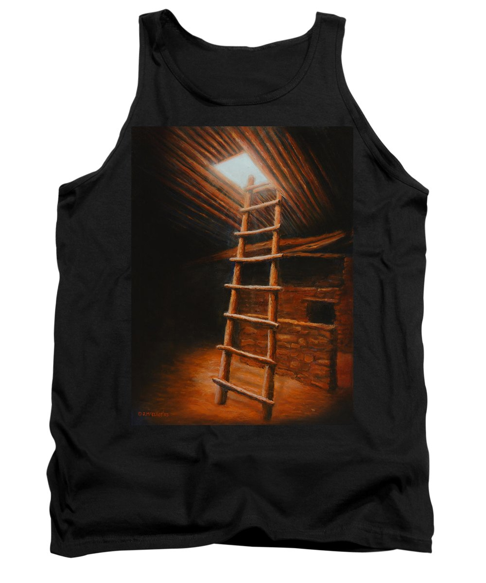 Kiva Tank Top featuring the painting The Second World by Jerry McElroy