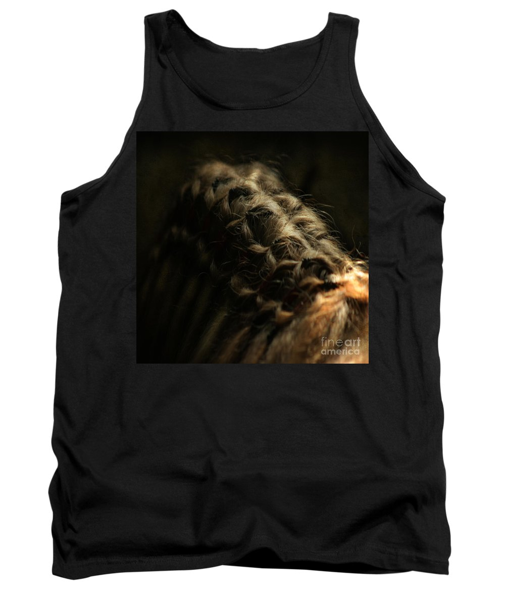 Horse Tank Top featuring the photograph The Shape by Angel Ciesniarska