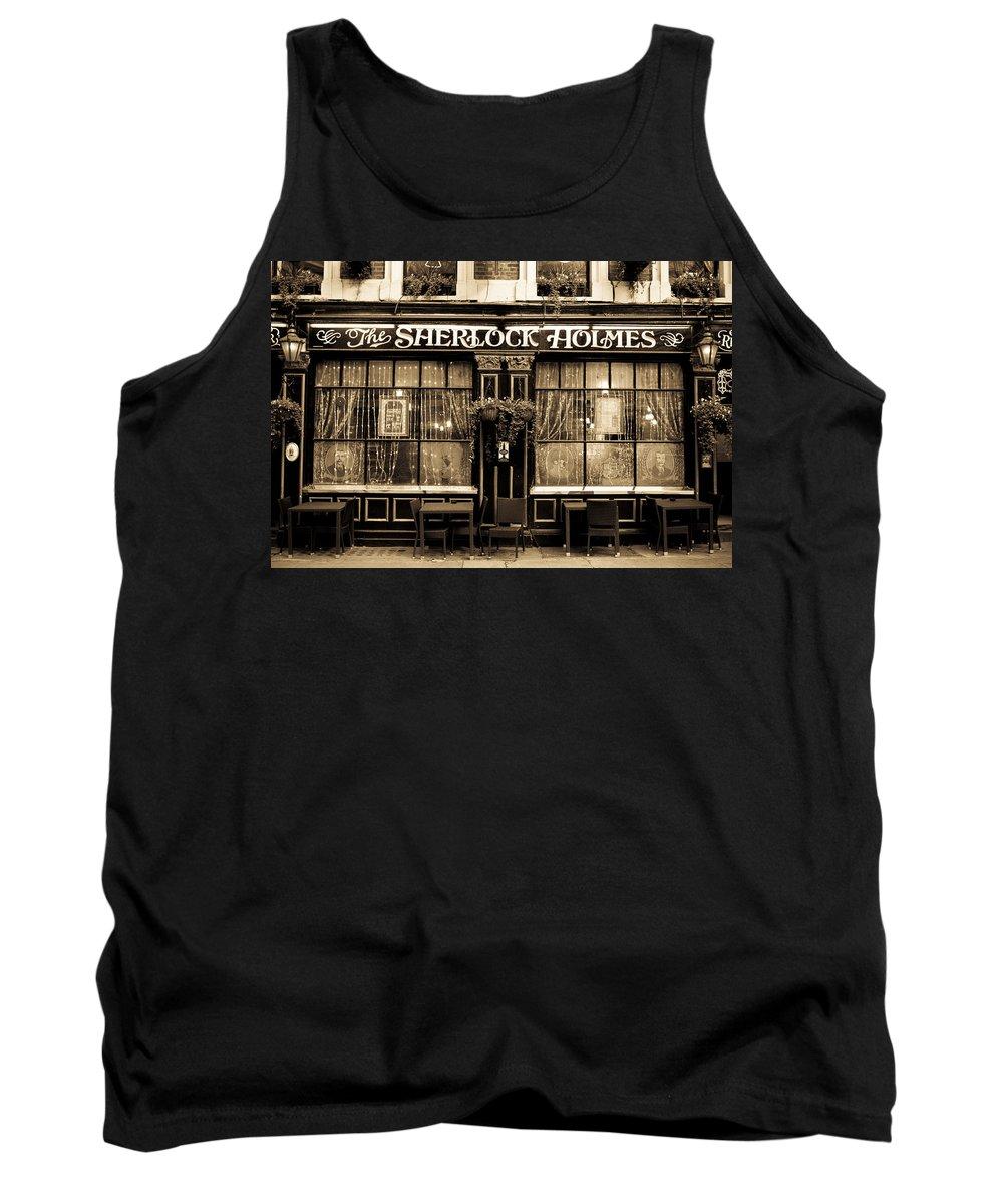 Sherlock Holmes Tank Top featuring the photograph The Sherlock Holmes Pub by David Pyatt