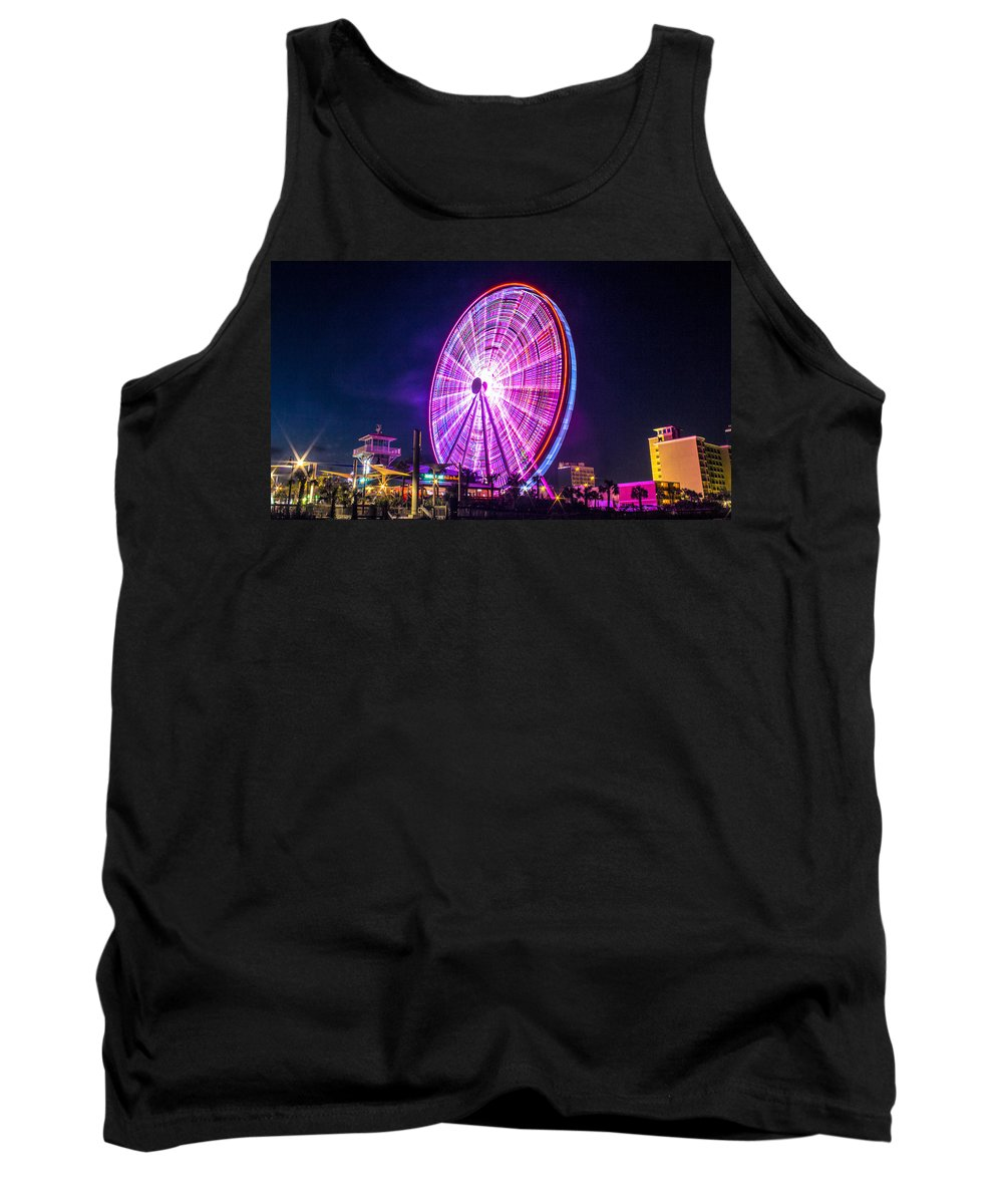 Ferris Tank Top featuring the photograph The Skywheel by Rob Sellers