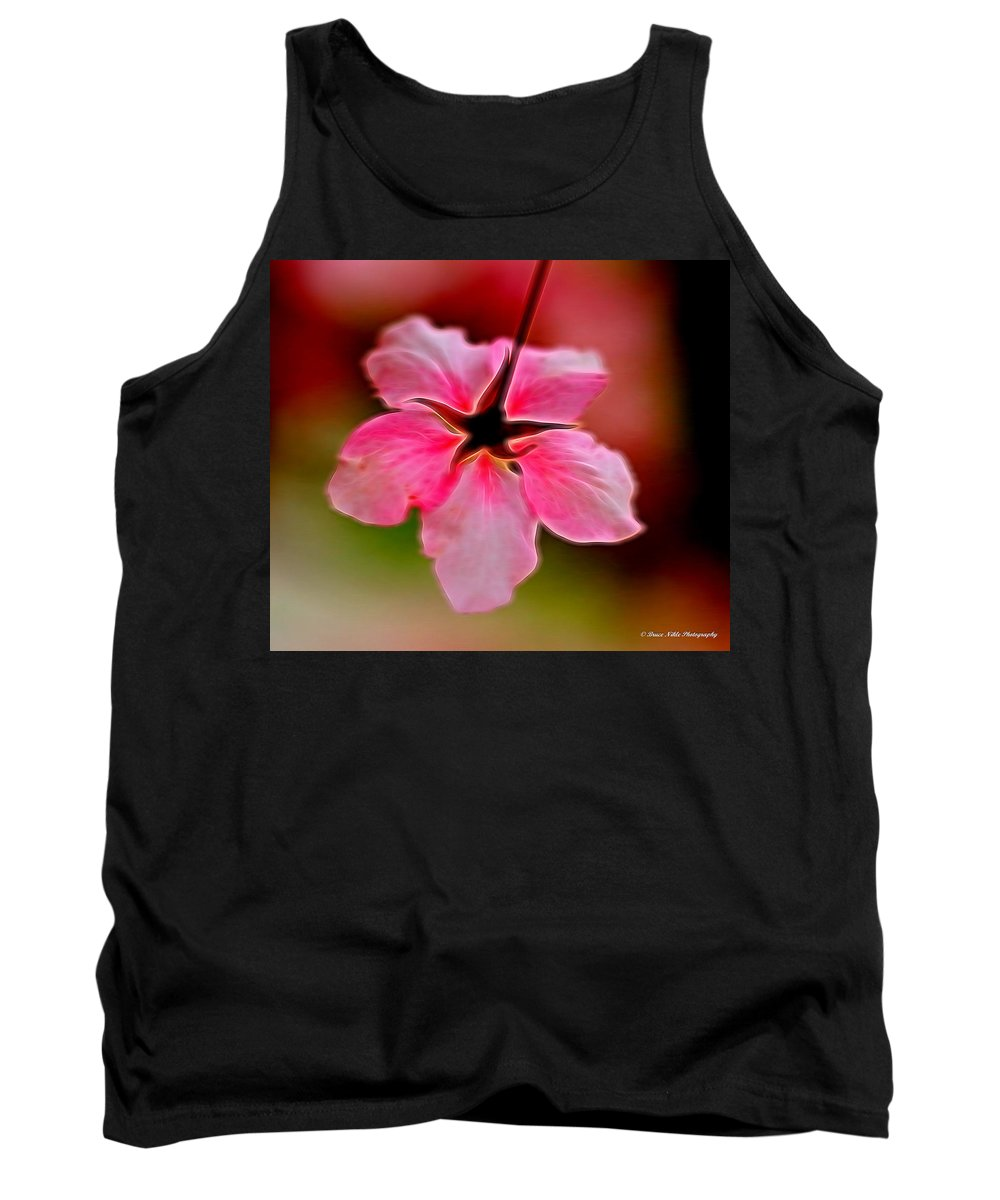 Nature Tank Top featuring the photograph The Star - Brillant On Black Lll by Bruce Nikle