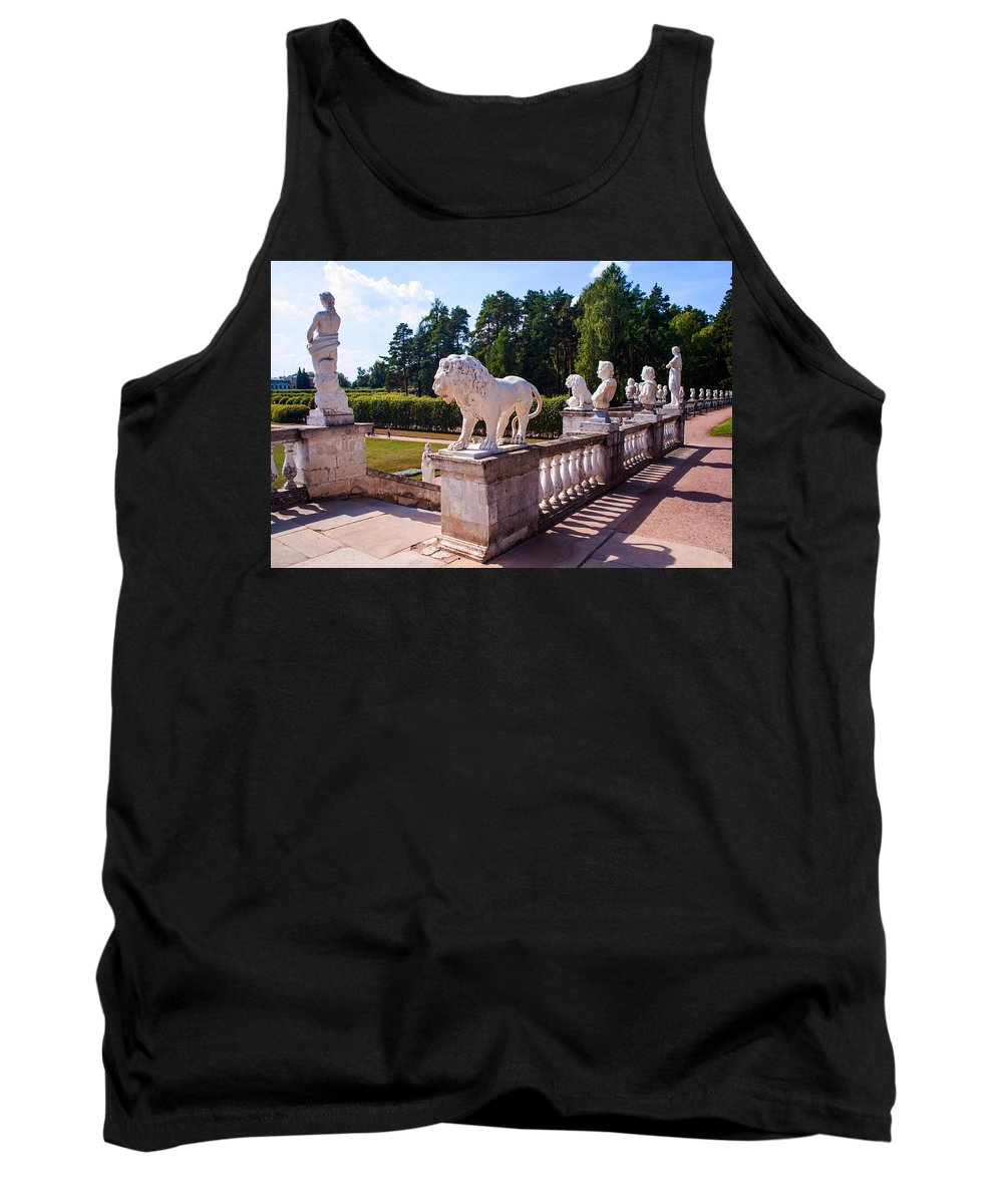 Archangelskoe Tank Top featuring the photograph The Statues Of Archangelskoe Estate. Russia by Jenny Rainbow
