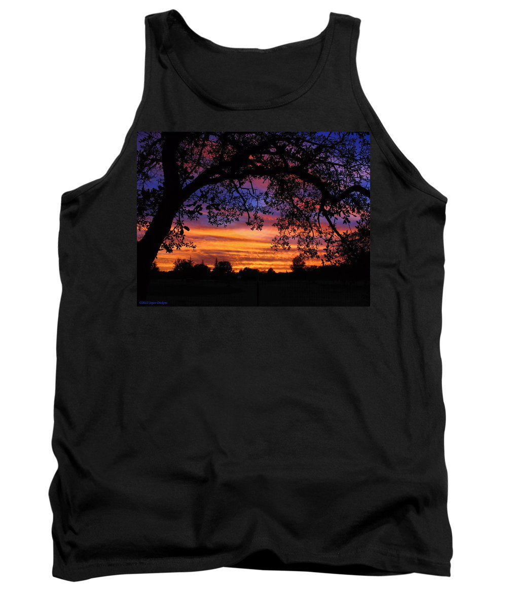 Sunset Tank Top featuring the photograph The Sun Sets For Mike by Joyce Dickens