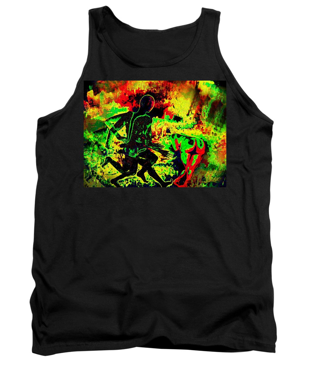 Genio Tank Top featuring the mixed media The Thunder Of Rock 'n' Roll by Genio GgXpress