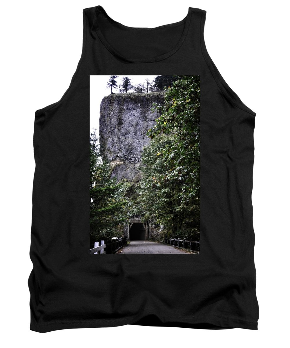 Multnomah Scenic Route Tank Top featuring the photograph The Tunnel Below The Rock by Image Takers Photography LLC - Laura Morgan