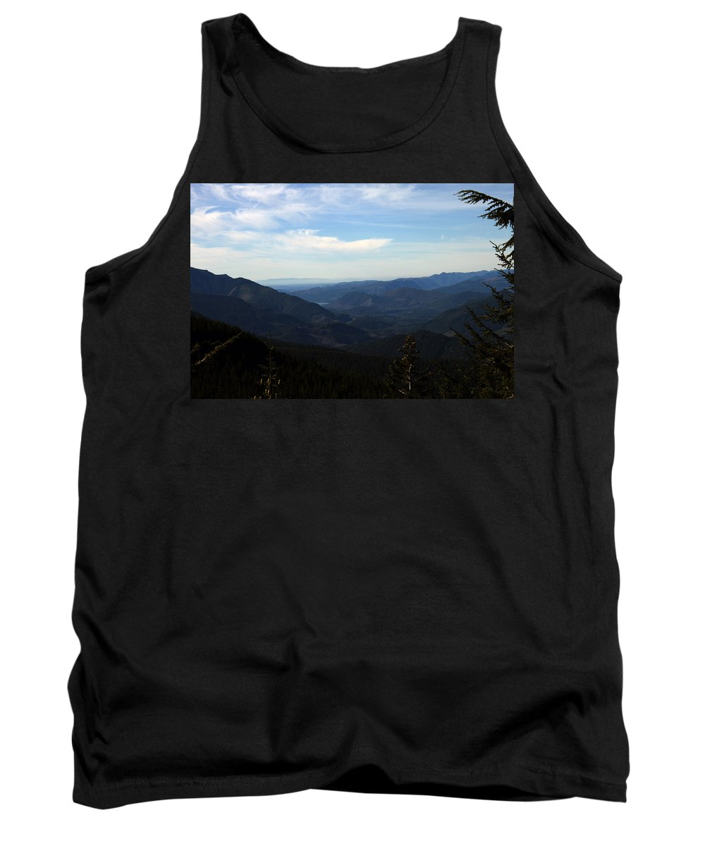 Nature Tank Top featuring the photograph The View From Nf 7605 No 2 by Edward Hawkins II
