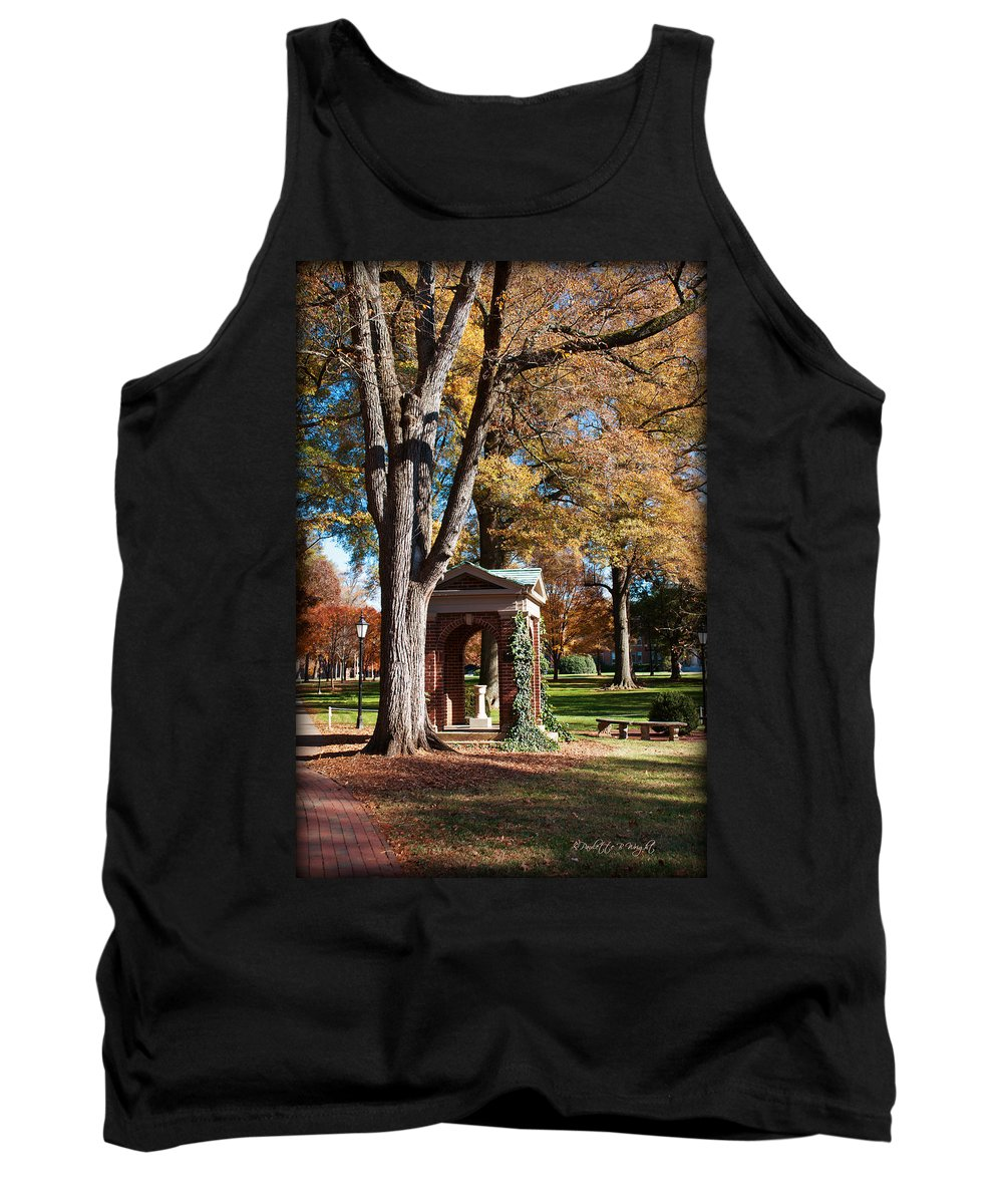Art Tank Top featuring the photograph The Well - Davidson College by Paulette B Wright