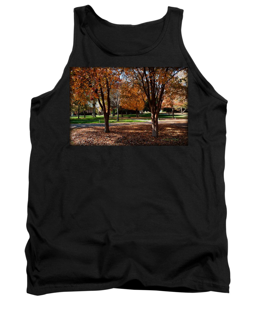 Art Tank Top featuring the photograph The Well In The Distance-davidson College by Paulette B Wright