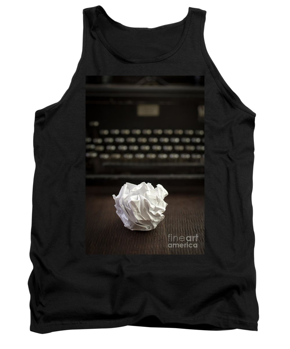 Paper Tank Top featuring the photograph The Writer by Edward Fielding